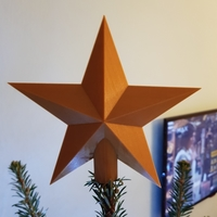 Small Christmas star 3D Printing 221023