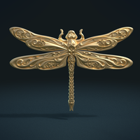 Small Dragonfly Relief 3D Printing 221112