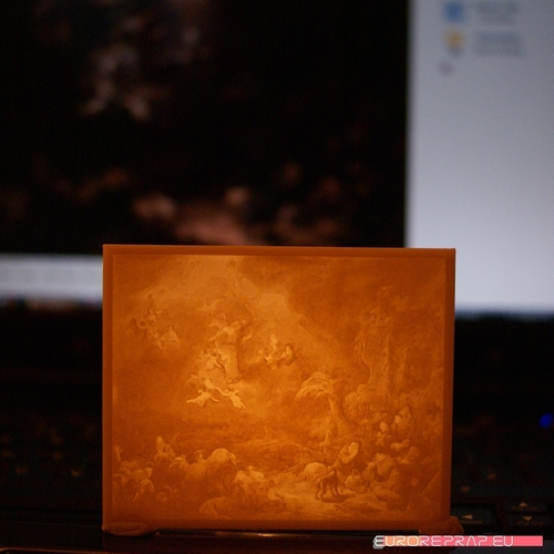 Christmas lantern with lithopanes - (for electric light sources) 3D Print 221333