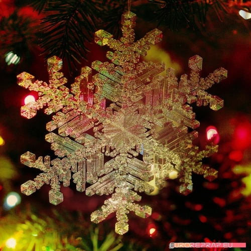 Real snowflake - Christmas Tree decoration - size: 128mm 3D Print 221347