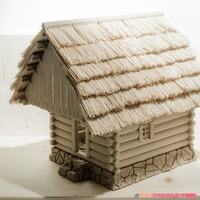 Small 3D printed house - log cabin - cottage 3D Printing 221350