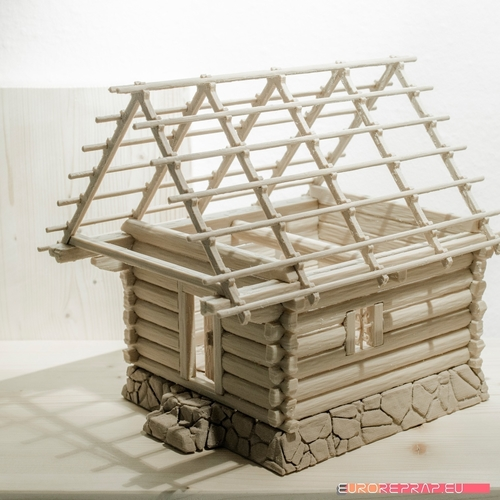3D printed house - log cabin - cottage 3D Print 221352