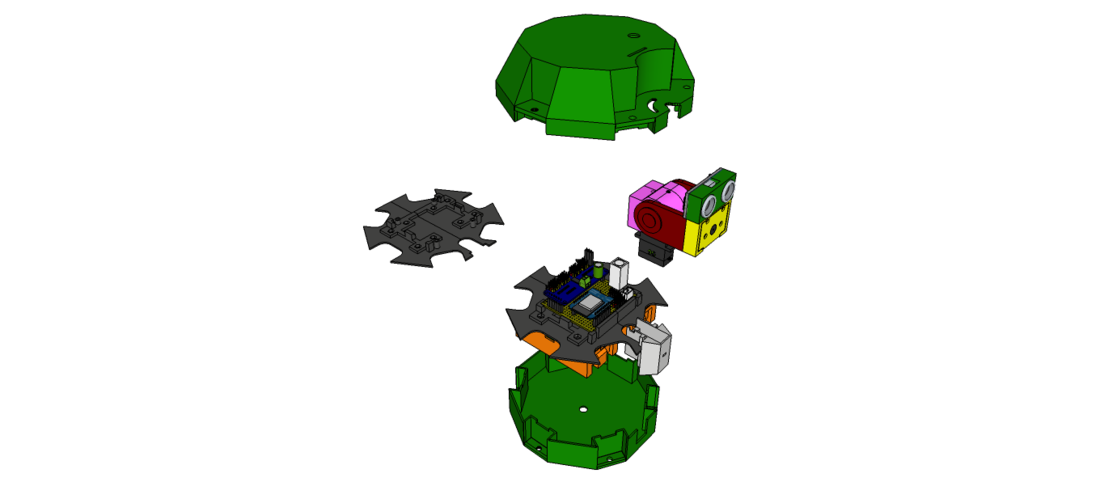 Hexapod - H1 - Body Top & Bottom 3D Print 221374