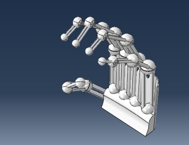 robotic printable hand 3D Print 221783