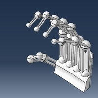 Small robotic printable hand 3D Printing 221783