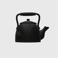 Small Dollhouse Miniature Tea Kettle 1:48, 1:24, 1:12 and 1:6 Scale 3D Printing 221791