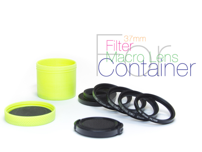 Container for lens and filters 3D Print 221800