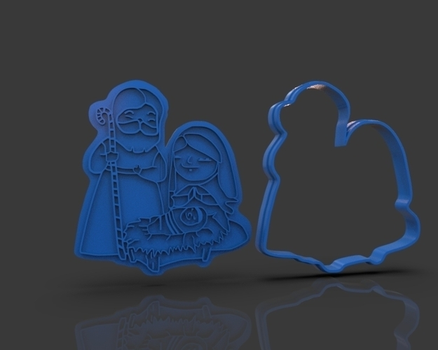 Nativity Christmas Cutter 3D Print 221908