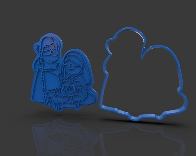 Nativity Christmas Cutter 3D Print 221909