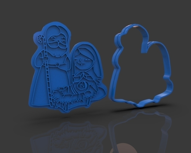 Nativity Christmas Cutter 3D Print 221917