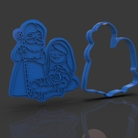 Small Nativity Christmas Cutter 3D Printing 221917