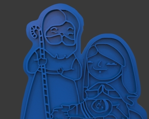 Nativity Christmas Cutter 3D Print 221918