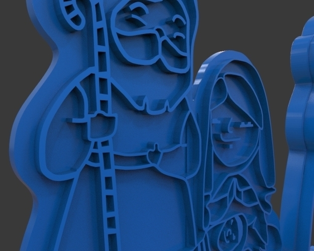 Nativity Christmas Cutter 3D Print 221920