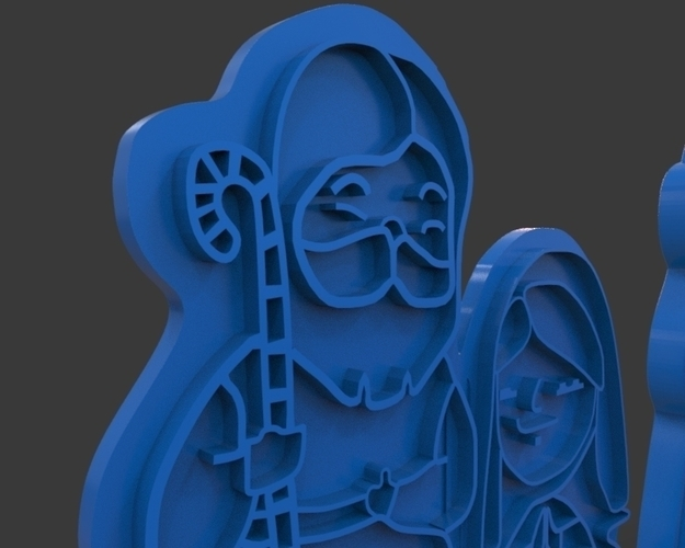 Nativity Christmas Cutter 3D Print 221921