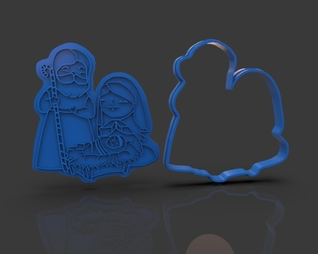 Nativity Christmas Cutter 3D Print 221923