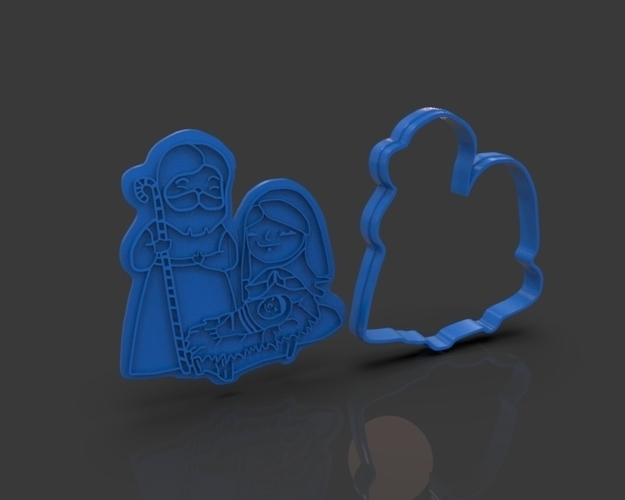 Nativity Christmas Cutter 3D Print 221924