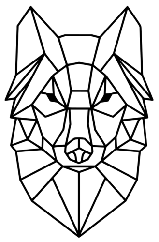 Polygon Wolf / Geometrical Animal / Deco / Dekor 3D Print 221933