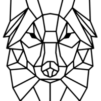 Small Polygon Wolf / Geometrical Animal / Deco / Dekor 3D Printing 221933