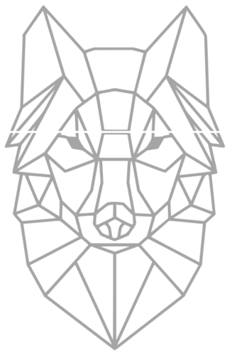 Polygon Wolf / Geometrical Animal / Deco / Dekor 3D Print 221934