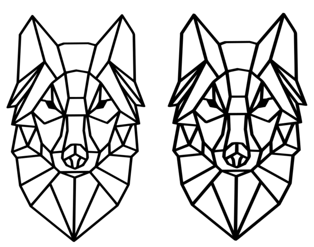 Polygon Wolf / Geometrical Animal / Deco / Dekor 3D Print 221935