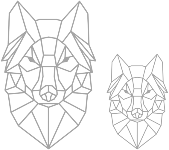 Polygon Wolf / Geometrical Animal / Deco / Dekor 3D Print 221936