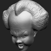 Small Pennywise Bust 3D Printing 222236