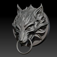 Small Fenrir Fan Art STL for 3DPrint 3D Printing 222330