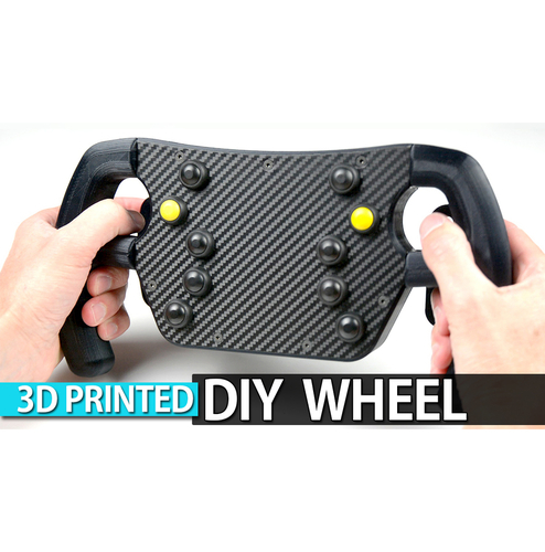DIY 3D Printed F1 GT Wheel with Magnetic Shift Paddles 3D Print 222516