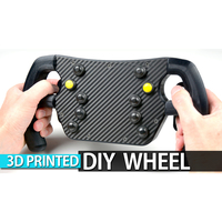 Small DIY 3D Printed F1 GT Wheel with Magnetic Shift Paddles 3D Printing 222516