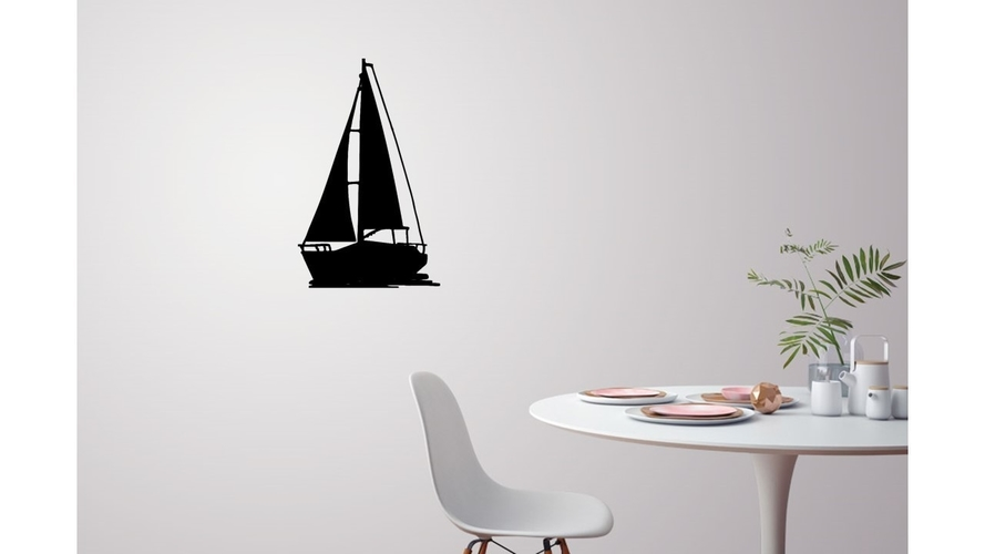 Sailing boat for wall decoration_4 3D Print 222621
