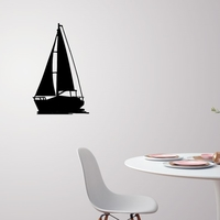Small Sailing boat for wall decoration_4 3D Printing 222621