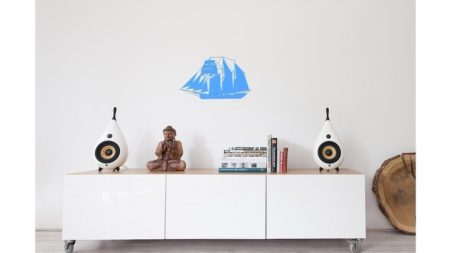 SAILING BOAT FOR WALL DECORATION_1 3D Print 222624