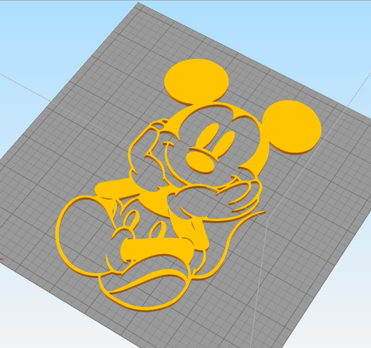 Mickey Kids and baby room wall art 1 3D Print 222636