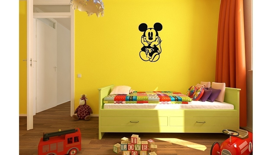 Mickey Kids and baby room wall art 1 3D Print 222638