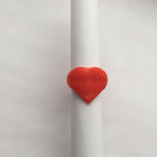 Wave Heart Ring 3D Print 22268