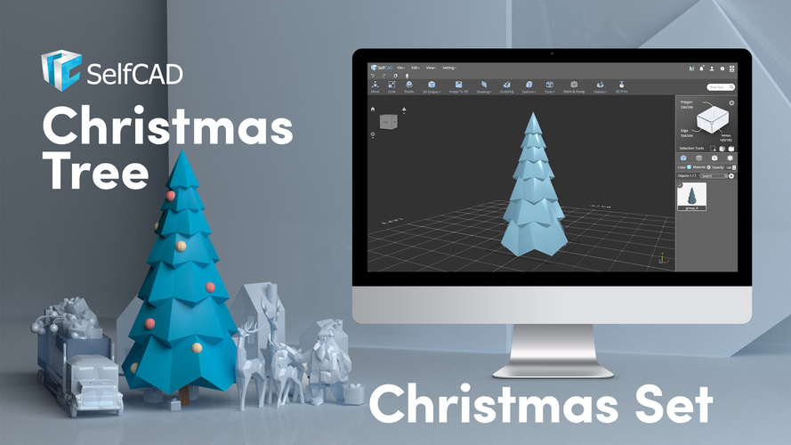 Simple Low Poly Christmas Tree 3D Print 222699