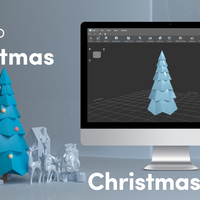 Small Simple Low Poly Christmas Tree 3D Printing 222699