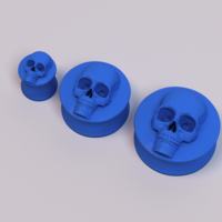 Small Ear Plugs - Skull 3D Printing 222701