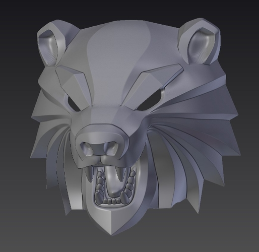 Bear head mask from The Witcher 3 3D Print 222736