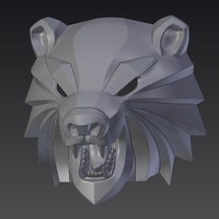 Small Bear head mask from The Witcher 3 3D Printing 222736