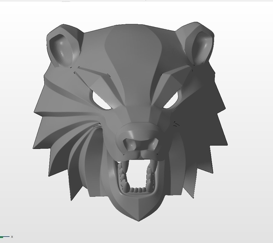 Bear head mask from The Witcher 3 3D Print 222738