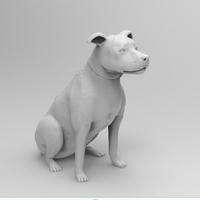 Small Dog sitting 3D Printing 222794