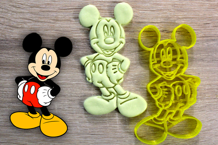 Miki Mouse  cookie cutter 3D Print 222806