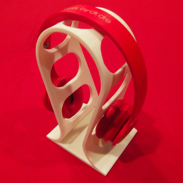 Medium Desktop Headphones Stand 3D Printing 22281