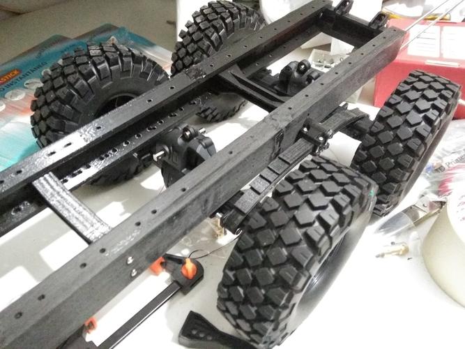 Crawler chasis 6x6 truck 3D print model