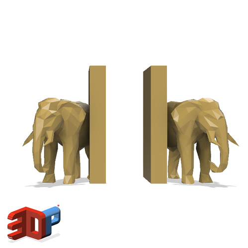 Elephant desktop bookends