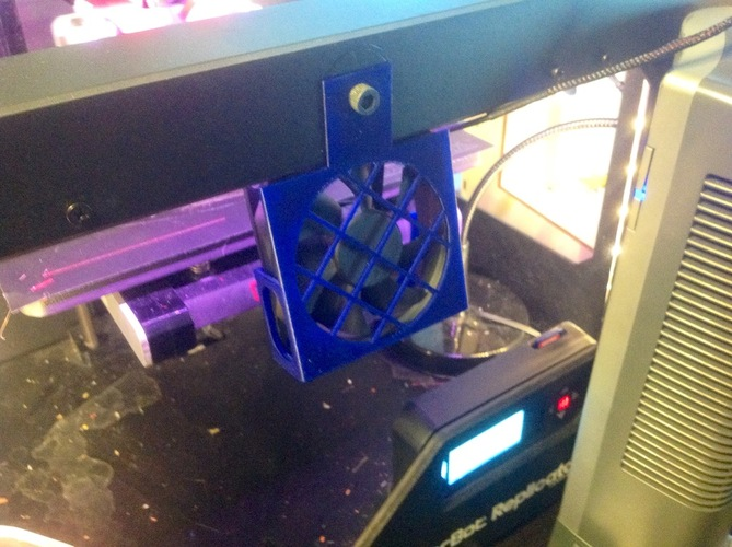 Fan mounts for Flashforge, CTC & Makerbots 3D Print 22288