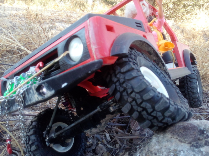 RC winch warn 1 10 for scale car 3D print model 3D Print 222930