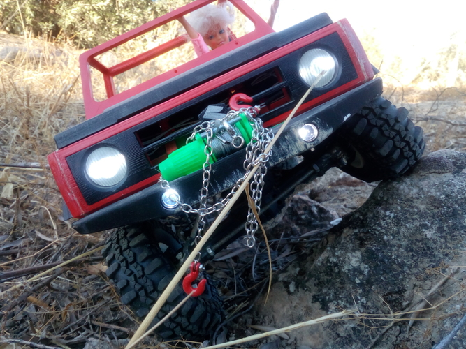 RC winch warn 1 10 for scale car 3D print model 3D Print 222932