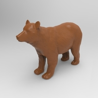 Small Brown Bear 3D Printing 222934